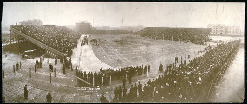 (Photo Western Championship, Chicago - Michigan at Marshall Field, Chicago, attendance, 27,000 1905)