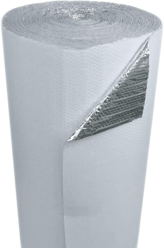 US Energy Products 24 x 50 White Double Bubble Reflective Foil Insulation Thermal Barrier R8