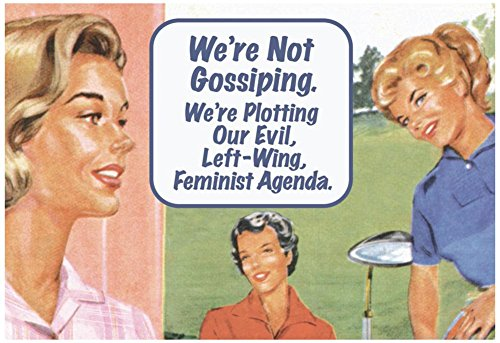 We're Not Gossiping We're Plotting Our Evil Feminist Agenda Funny Poster Print