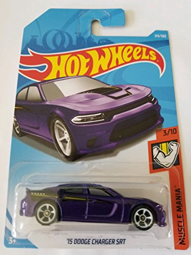 Hot Wheels 2018 Muscle Mania 3/10 - '15 Dodge Charger SRT (Purple)