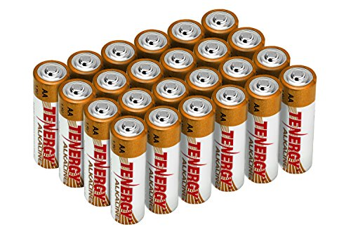Tenergy 1.5V AA Alkaline Battery, High Performance AA Non-Rechargeable Batteries for Clocks, Remotes, Toys & Electronic Devices, Replacement AA Cell Batteries, 24-Pack