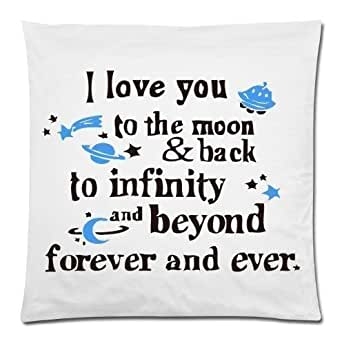 custom funny quotes i love you to the moon