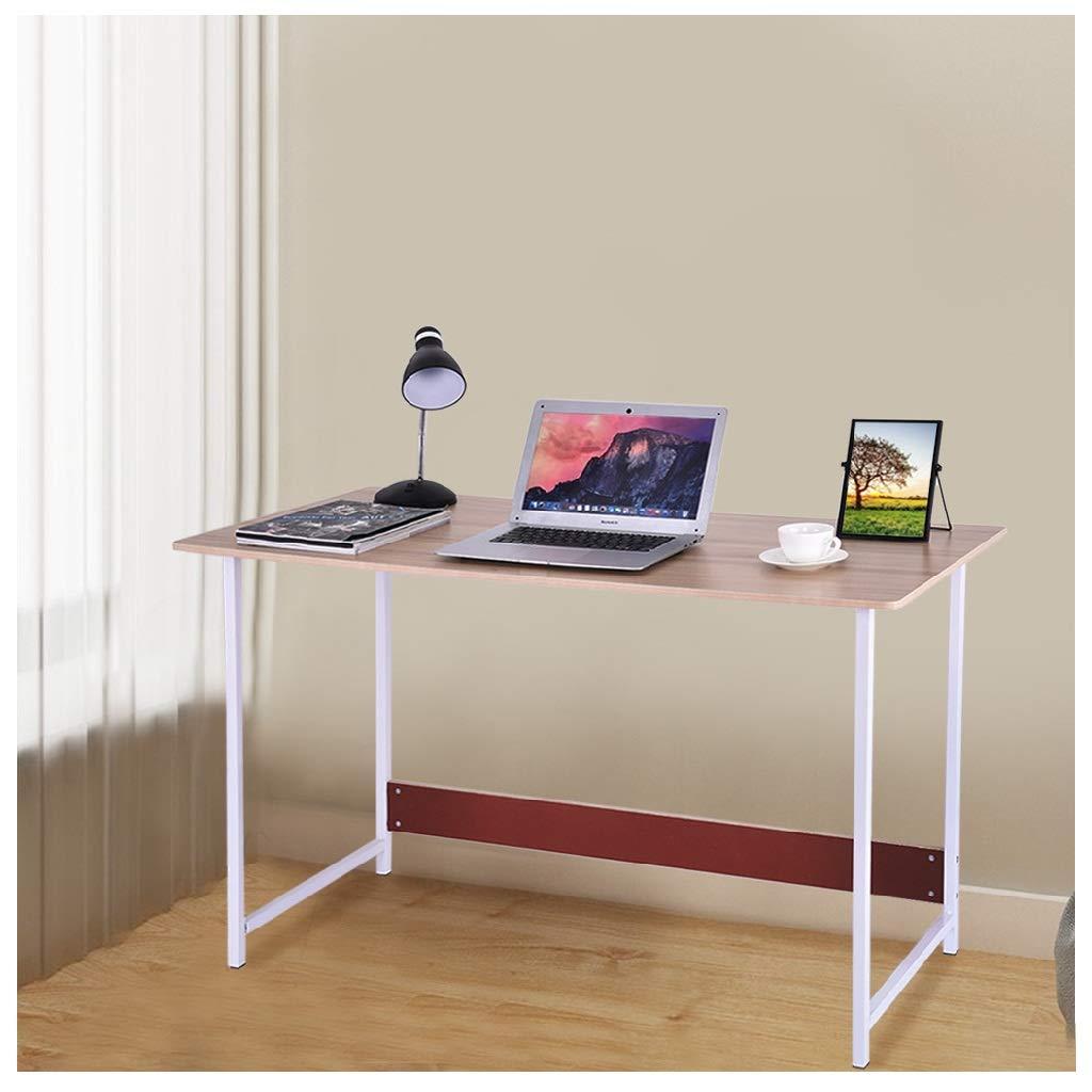 JinJin Modern Simple Home Notebook Writing Desk, Computer Desk Writing Table, PC Laptop Office Desk, Study Writing Modern Table, Gaming Computer Desk (47.2×21.7×28.7inch) (White) by Jinjin