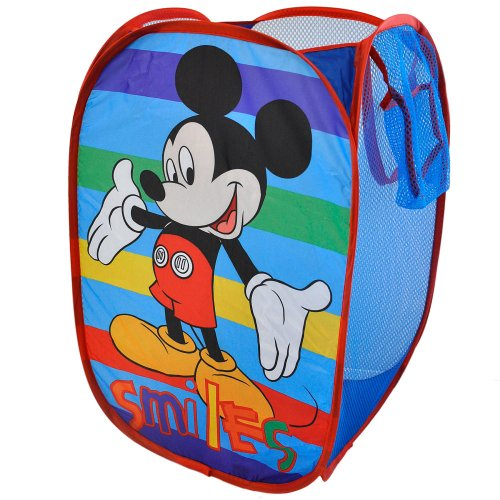 Disney Mickey Mouse Smiles Pop Up Hamper Bedroom Decor