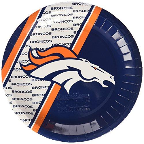 NFL Denver Broncos Disposable Paper Plate (20-Pack)