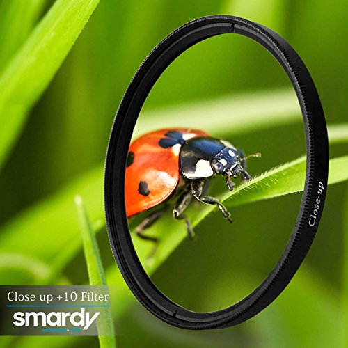 ideal for photographing small items includes transport box premium grade optical glass 10 Diopter smardy 55mm Close up Macro Lens Filter