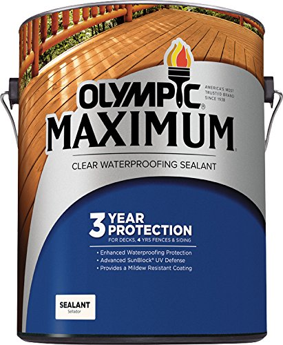 Olympic Stain 56500-04 Maximum Waterproofing Sealant, 1 Quart, Clear (Wood Outdoor Sealant)