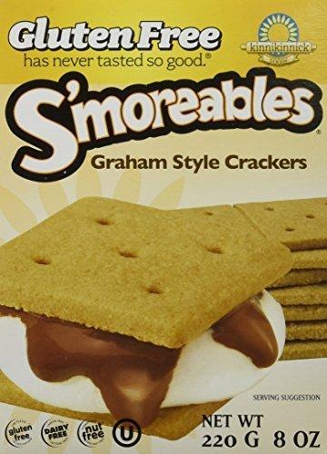 Kinnikinnick Gluten Free S'moreables Graham Style Crackers, 8 Ounce (Pack of 6) by Kinnikinnick