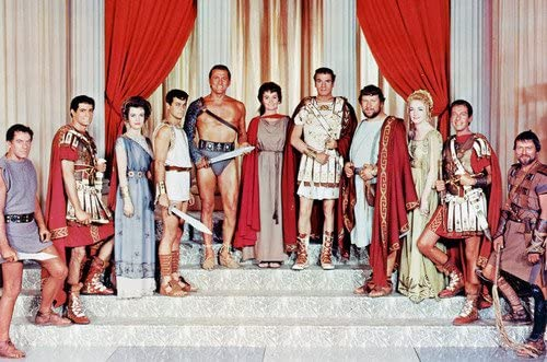 Nina Foch, Laurence Olivier, Peter Ustinov, Tony Curtis, Kirk Douglas, John  Gavin, John Ireland and Jean Simmons in Spartacus 24x36 Poster at Amazon's  Entertainment Collectibles Store