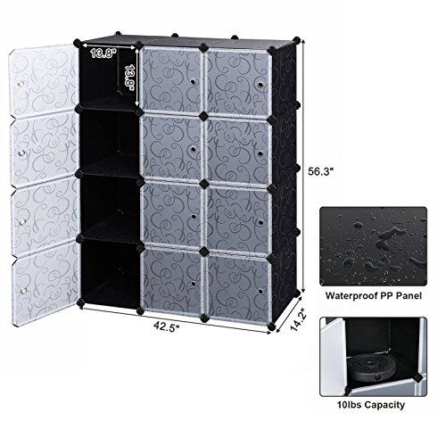 SONGMICS Storage Cube, Plastic Cube Organizer, DIY Modular