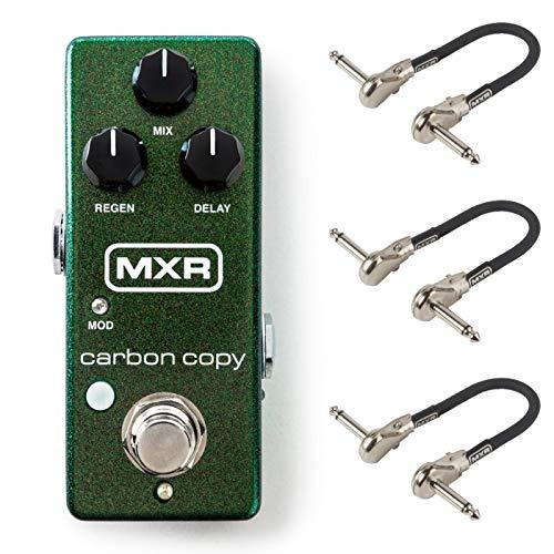 MXR M299 Carbon Copy Mini Analog Delay Bundle with 3 MXR Patch -