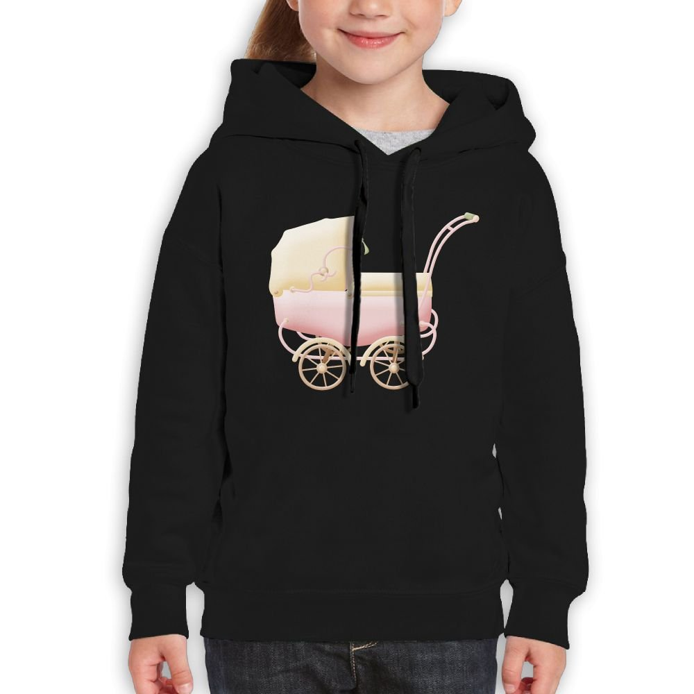 SmallHan Girls Pink Stroller Casual Style Baseball Black Sweater