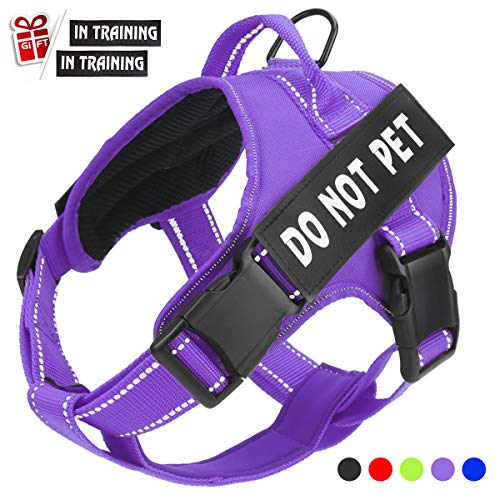 Harness Pet Not - Bolux in Training Dog Harness, DO NOT PET Harness Adjustable Outdoor Service Dog Vest Harness - 3M Reflective Pet Halters for Small Medium and Large Dogs