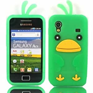 HJX Green S5830 New Cute 3D Cartoon Chicken Soft Silicone Case Protective Cover Skin For Samsung Galaxy Ace S5830