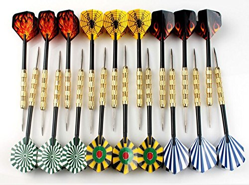 Interbusiness 16g Coppering Steel Tip Darts Needle Dart Flights