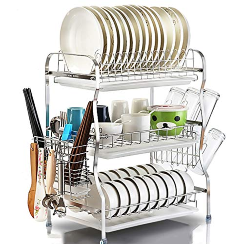Estante de cocina Cubiertos de escurreplatos Escurridor de platos Caja de  almacenamiento del recipiente del filtro ab0aca23d40e