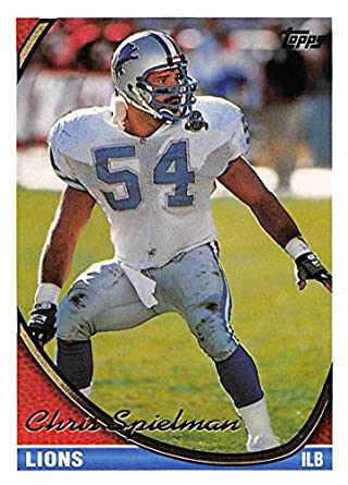 timeless design 6f507 86606 Amazon.com: 1994 Topps Football Card #185 Chris Spielman ...