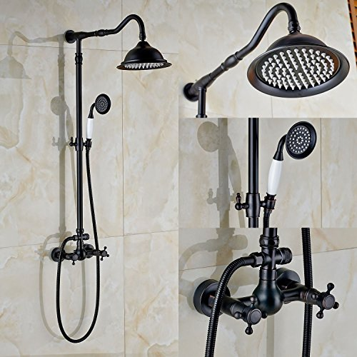 Rozin ORB Finish Dual Knobs Mixer Shower Set 8