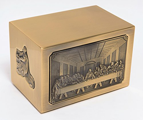 - Cremation Urn: The Last Supper Square Urn (Brass)