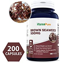 Best Brown Seaweed Extract 500mg 200 Capsules (NON-GMO & Gluten Free) - Fucoidan - Natural Dietary Supplement For Weight Loss & For Boosting Your Immune System ★100% MONEY BACK GUARANTEE!★