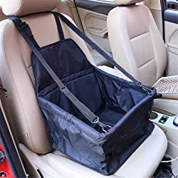 Pet Dog Cat Car Seat Bag Carriers Small Animal Mat Blanket Safety Belt Cover Mat Protector Black