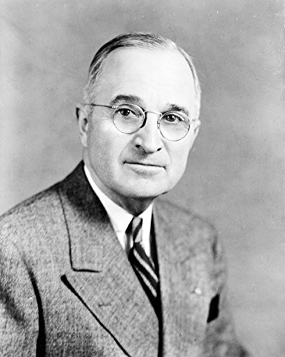 1884 Portrait Portrait (Photo Print 11x14: Harry Truman, Half-Length Portrait, Facing Front, 1945)