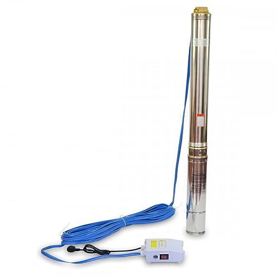 Bomba de Agua para Pozo 1500W Sumergible 158m de Profundidad 5,8m3/h 21 turbinas: Amazon.es: Bricolaje y herramientas