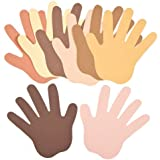 Multicultural Skin Tone Paper Hand Cut-Outs to Design Paint Decorate and Personalize (Pack of 50)