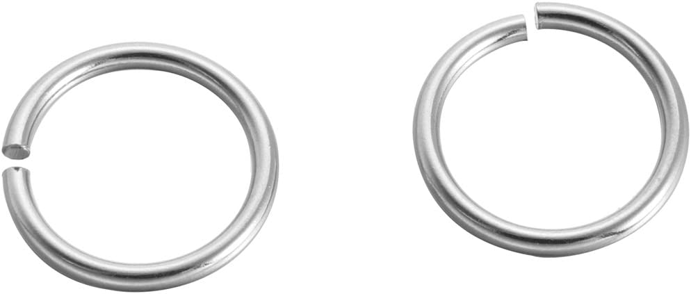 100pcs Silver Tone Stainless Steel Circle Open Jump Rings for Jewelry Making Findings DIY Connectors Fit 8mmx1.0mm