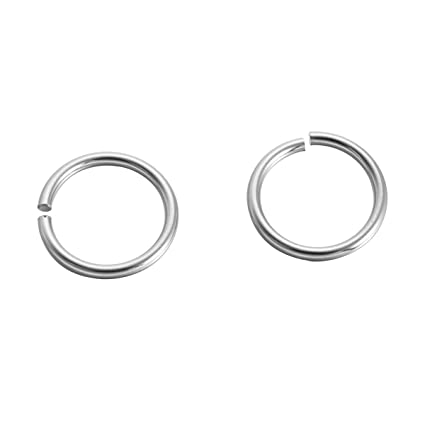 100 anillos de acero inoxidable con círculo abierto para ...