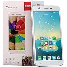 RCA Q1 4G LTE, 16GB, Unlocked Dual SIM Cell Phone, Android 6.0 - White