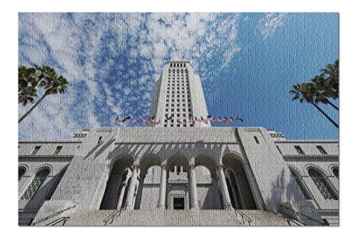 Los Angeles, California - City Hall - Photography A-92166 (20x30 Premium 1000 Piece Jigsaw Puzzle, Made in USA!)