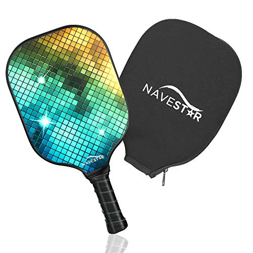 NAVESTAR Graphite Pickleball Paddle, Lightweight Pickleball Racket with Honeycomb Composite Core & Edge Guard & Protective Cover