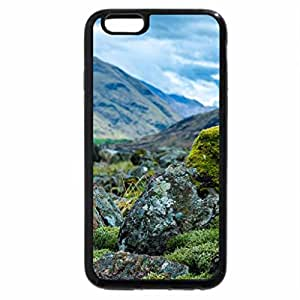 iPhone 6S Plus Case, iPhone 6 Plus Case, stones in scottish valley in focus