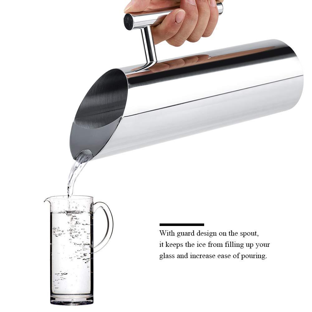 Jarra de Agua de Acero Inoxidable Jarra de Leche y Bebida para Restaurante//Cocina 1.5L Bar