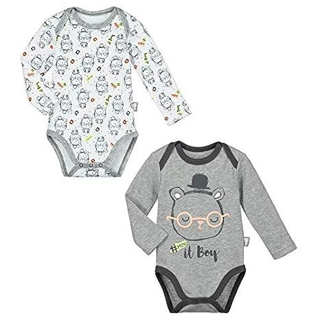 Lot de 2 bodies manches longues bébé garçon Pandalapin - Taille - 3 mois  ( c198d766889