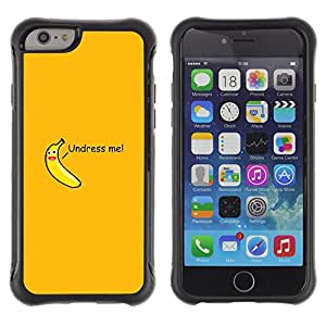 LASTONE PHONE CASE / Suave Silicona Caso Carcasa de Caucho Funda para Apple Iphone 6 / Undress Me Quote Babana Funny Sexy