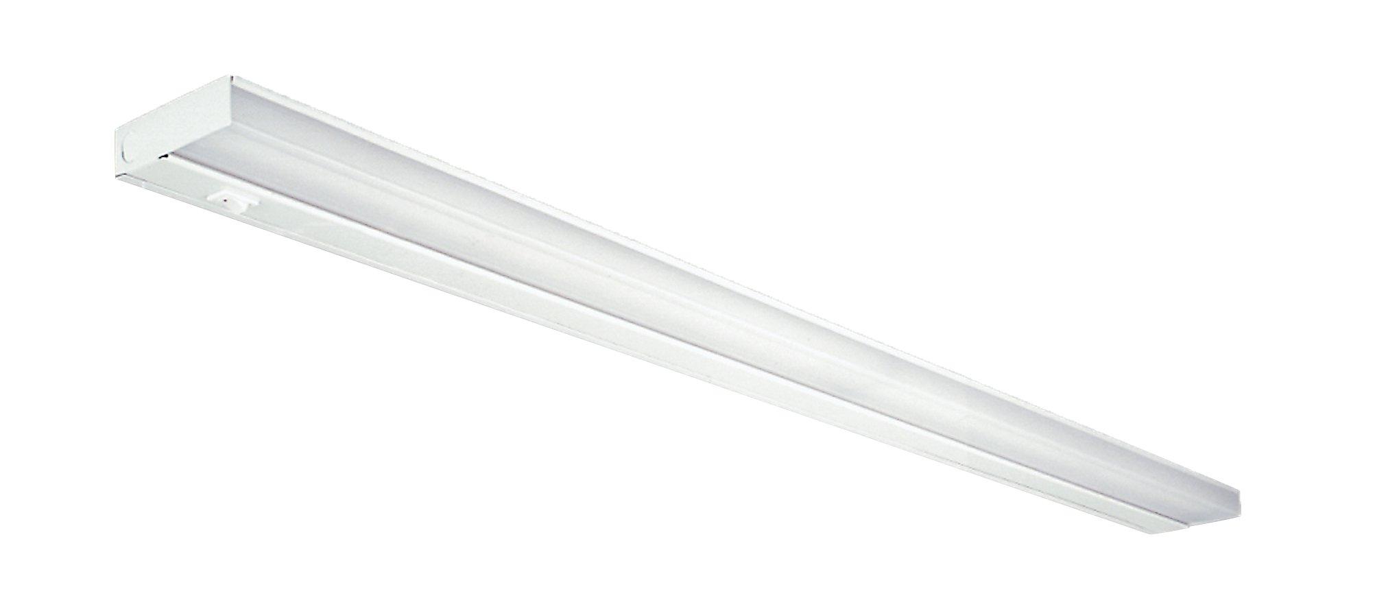 NICOR Lighting 42-Inch Dual 13-Watt T5 Fluorescent Under Cabinet Light, White (10368EB)