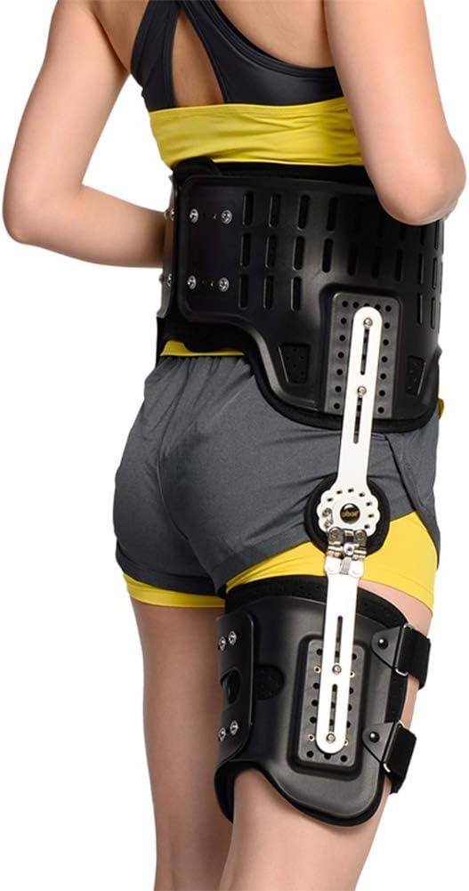 YUXINCAI Órtesis De Cadera Soporte con Bisagras Fijación del Aparato Ortopédico Extensión De La Prótesis Stent Fracturas De Muslo Soporte,Negro,over90cm