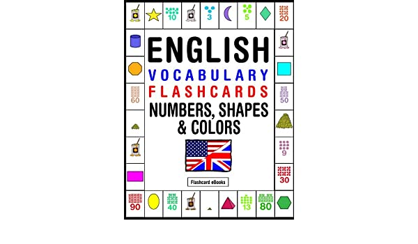 English Vocabulary Flashcards - Numbers, Shapes & Colors ...