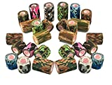 Vet Wrap Tape Self Adhesive Cohesive Bandage, FDA Approved, Camo Camouflage Colors Dog Cat Horse Self Stick Adherent Bandaging Tape Protect Cover Outdoor Gear 3 inch x 5 Yards 2, 4, 6, 12 or 24 Pack
