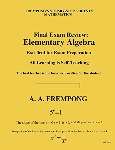 Download Final Exam Review: Elementary Algebra Pdf