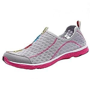 Aleader Women's Mesh Slip On Water Shoes Gray 10 D(M) US
