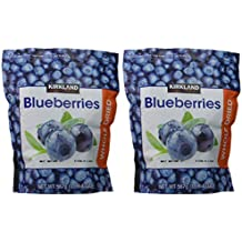 Kirkland Signature Whole Dried Blueberries: 2 Bags of 20 Oz (1 Bag is 1LB 4 OZ which is 20 Ounces)
