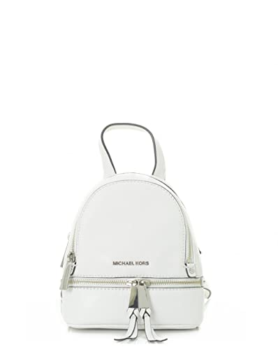 ebead0faec70 Michael Kors Rhea Zip Detail Extra Small Back Pack WHITE One Size ...