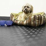 Rubber Cal Diamond-Grip Floor Mat, Black, 2mm x 4 x 40-Feet
