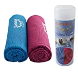 Startostar 2 Pack Cooling Towel for Running, Camping, Hiking, Gym, Golf