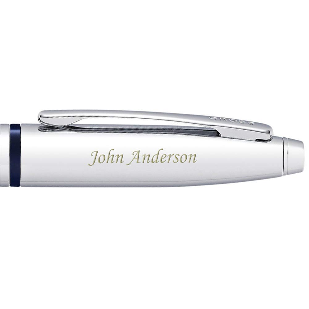 Dayspring Pens | Engraved/Personalized Cross Calais Ballpoint Pen - Blue. Custom Gift with Case AT0112-3 Fast Quality Engraving by Dayspring Pens (Image #5)