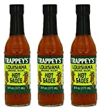 Trappeys Sauce Hot Louisiana 6oz (3-pack)