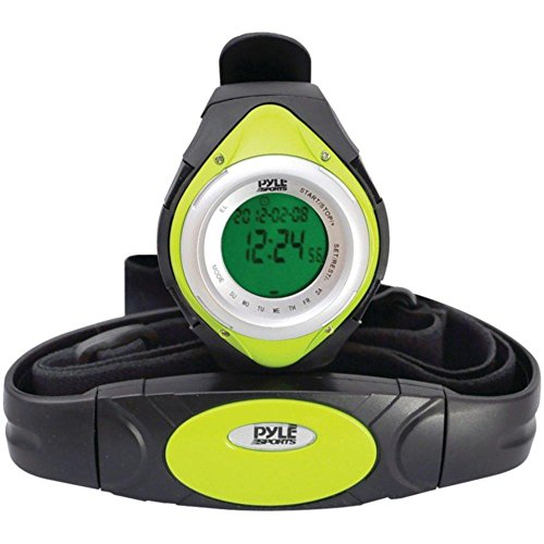 PYLE PHRM38GR Heart Rate Monitor Watch with Minimum, Aver...